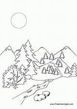 Coloring Mountains Rocky Line Library Clipart Coloringhome sketch template