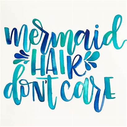 Mermaid Font Hair Quotes Lettering Sign Sayings