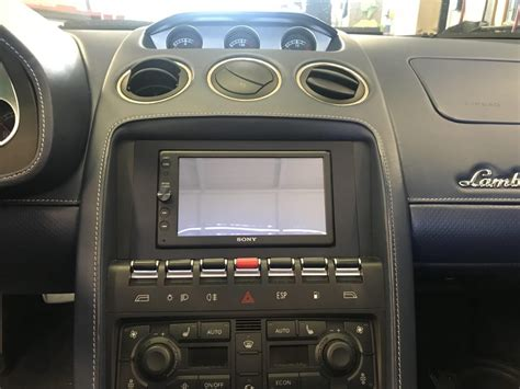 lamborghini gallardo   dash kit audio designs