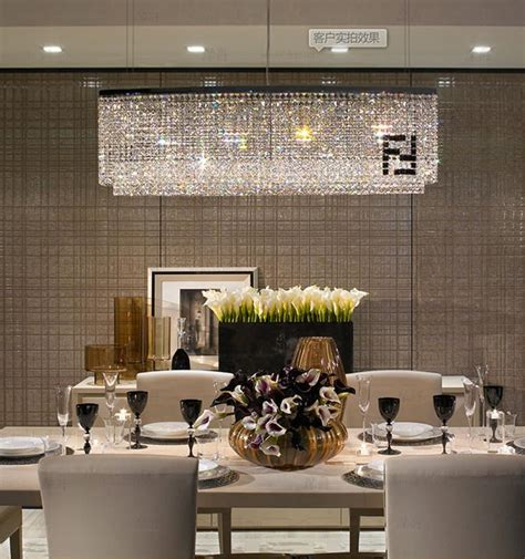 modern novelty  mark crystal chandeliers  dining room