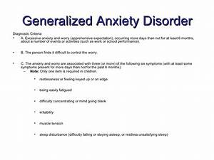Generalized Anxiety Disorder Criteria