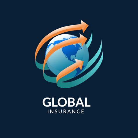 global insurance logo template logo design maker