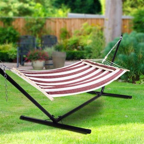 Hamac De Jardin Hamac De Jardin Lit Cing Balancelle Transat Jardin 190 140cm Confortableneuf Achat Vente