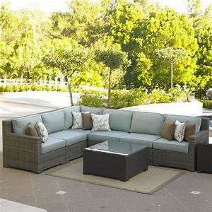 northcape international malibu left arm facing six piece With malibu outdoor sectional sofa