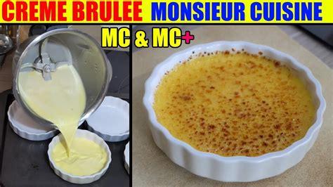 cuisine plus fr recettes creme brulee recette monsieur cuisine plus lidl