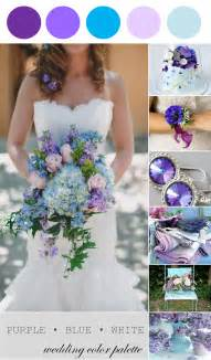 wedding color palettes wedding color palette purple blue and white the palette