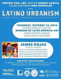 Event: Latino Urbanism: Defining a model for Economic and ...