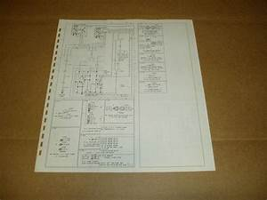 1979 Ford Econoline Van E150 E250 Wiring Diagram Schematic Sheet Service Manual