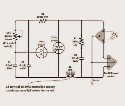 Simple Triac Dimmer Circuit Schematics World