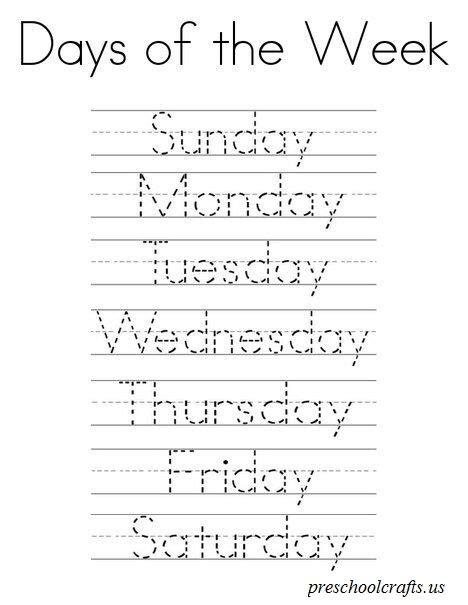 days of the week worksheet for preschool preschool and 655 | day of the week worksheets