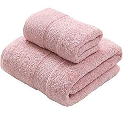 pink bathroom towel set gardening soft cotton thick towels set