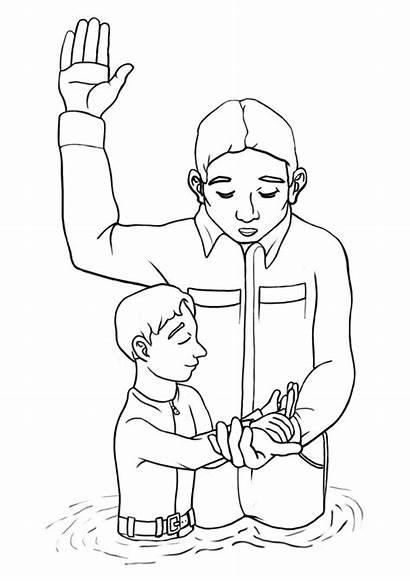 Lds Baptism Clipart Coloring Clip Jesus Clipartion
