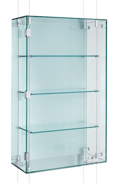glass display cabinet hardware suspended glass display cabinets custom made shopkit