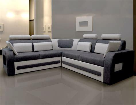 canape d angle bicolore canap d 39 angle convertible tissu gris avec coffre aglibo 2