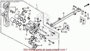 Honda Vf1100c V65 Magna 1984 Usa Rear Brake Caliper