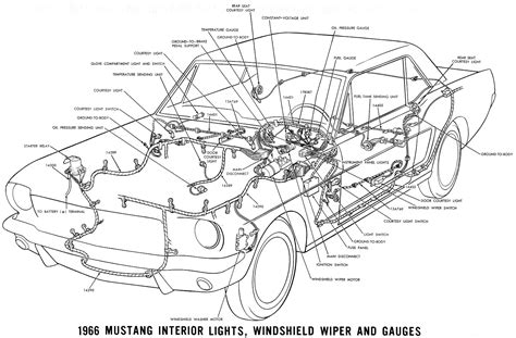 66 Mustang Wiring Diagram by Courtesy Light Wiring Diagram For 1966 Mustang Wiring
