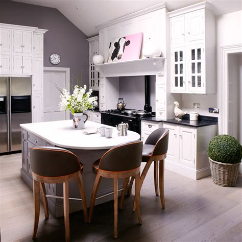 country modern kitchens modern country kitchen diner in white and grey kitchen 2948