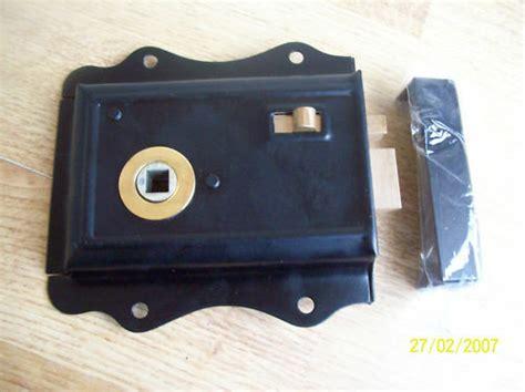 olde victorian style rim locklatch black ebay