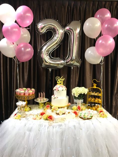 21st Birthday Table Decoration Ideas Elitflat