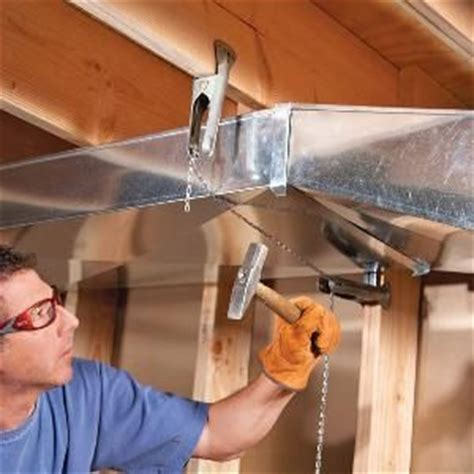 home repair   flatten basement air ducts  gain