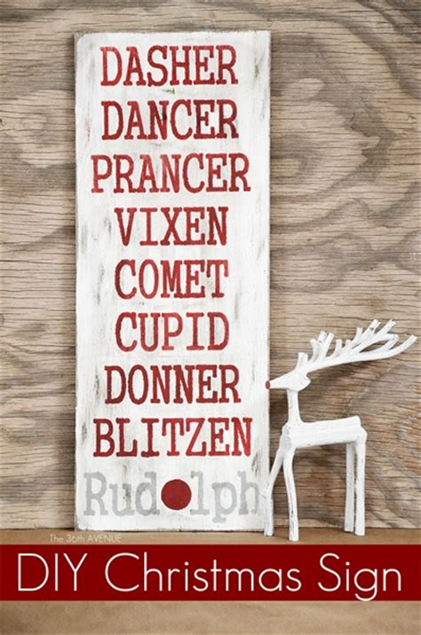 diy rudolph sign the 36th avenue