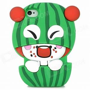Protective 3D Watermelon Boy Style Silicone Case for ...