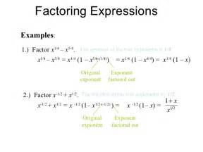 Factoring Expressions Examples