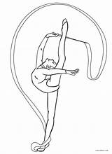 Gymnastics Coloring Pages Rhythmic sketch template