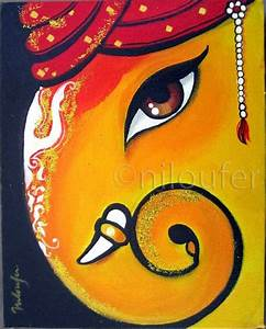 Ganesha Acrylics on Canvas Niloufer Wadia | Portfolio Art ...
