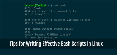 tips for writing an effective 10 useful tips for writing effective bash scripts in linux