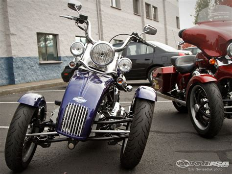 Leaning 3-wheeled Harley Conversion