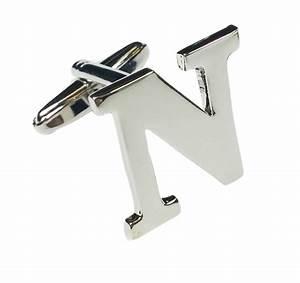 alphabet initial single cufflink wedding mix match With letter cufflinks silver