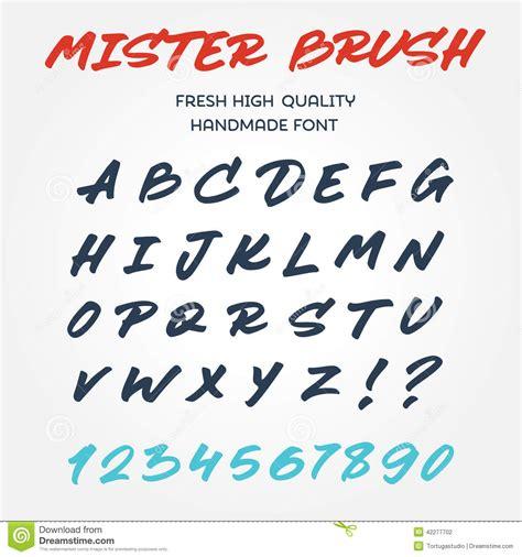 retro vector type font alphabet handwritten with brush marker pe stock vector image 42277702