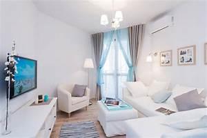 Fresh and Airy Seaside Studio Apartment Home Interior