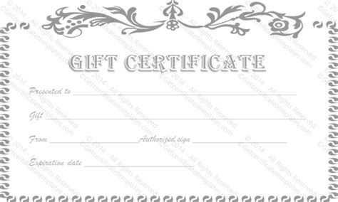 black and white gift certificate template free vintage flower gift certificate template