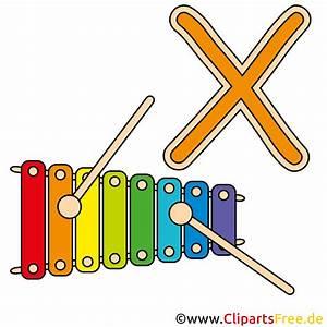 X is for Xylophone - Buchstaben Bilder  Clipart