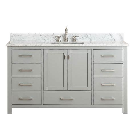 60 inch single sink vanity without top modero chilled gray 60 inch single vanity combo with white
