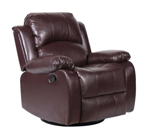 Leather Swivel Recliners by Bonded Leather Rocker And Swivel Recliner Living Room
