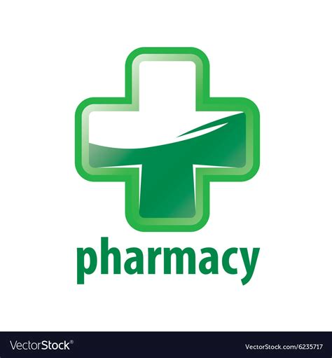 Pharmacy Logo by Logo Green Cross Pharmacy Royalty Free Vector Image