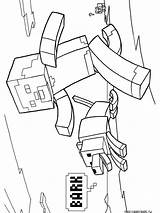 Minecraft Coloring Pages Printable Cartoon Mycoloring sketch template