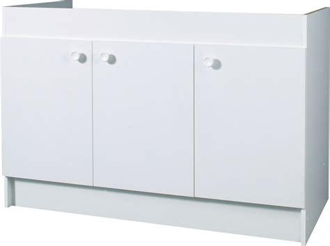 meuble cuisine 3 portes meuble sous evier bas 120 3 portes bricoman