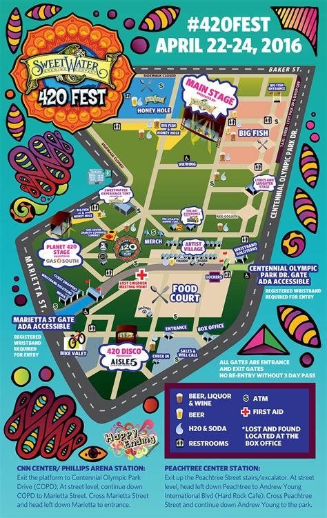 2016 Map  Sweetwater 420 Fest