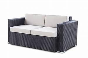 Rattan Gartenmöbel Sofa Bica Colorado 3 Sitzer Couch Poly Rattan