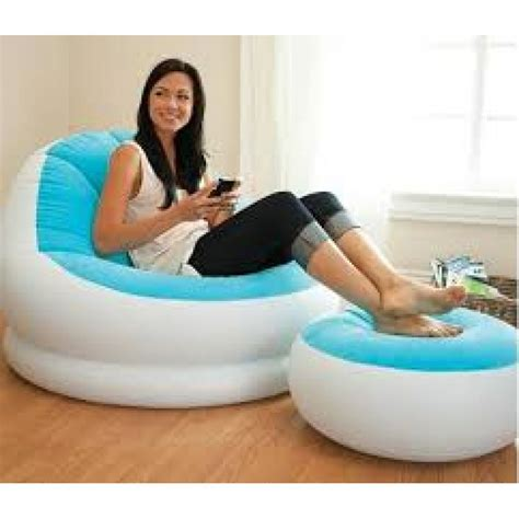 inflatable sofa with footrest set intex 68564 in pakistan