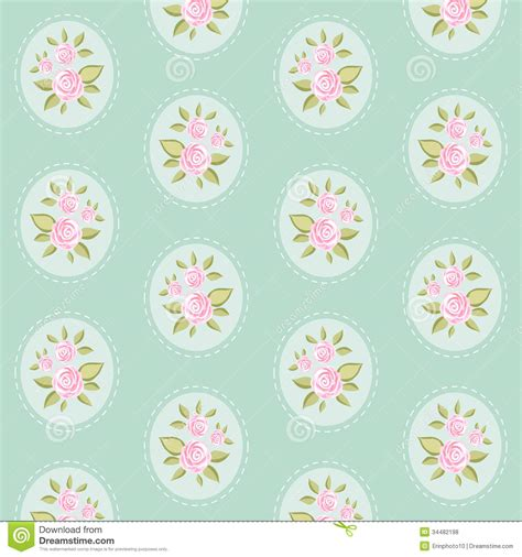 green shabby chic wallpaper vintage pattern 8 stock vector image of love pretty 34482198