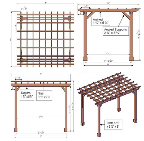 arbor height pergola plans dwg plans free download 171 periodic51atl