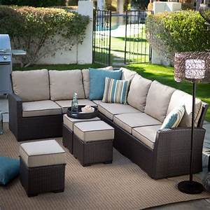 belham living monticello all weather outdoor wicker sofa With outdoor sectional sofa on sale