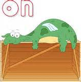 preposition  motion  preschool stock vector image