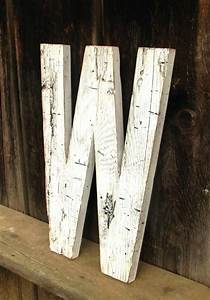 25 best ideas about large wooden letters on pinterest With large salvaged letters