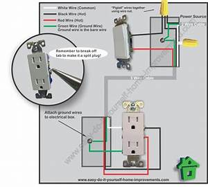Switched Outlet Wiring Diagram
